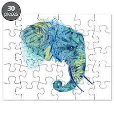 Blue Elephant Puzzle