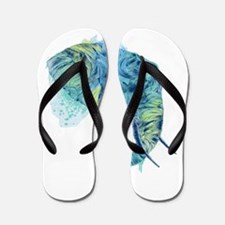 Blue Elephant Flip Flops