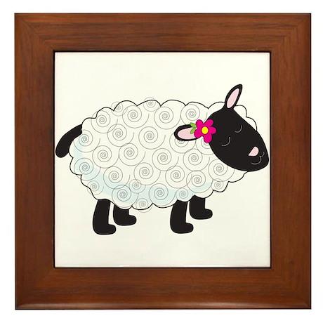 Little Lamb Framed Tile