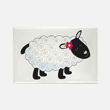 Little Lamb Rectangle Magnet
