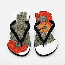 Jewel Elephant Flip Flops