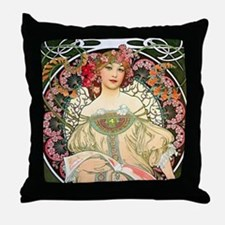 Mucha - F. Champenois Throw Pillow
