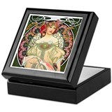 Vintage art Square Keepsake Boxes