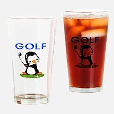 Golf Penguin (1) Drinking Glass