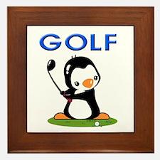 Golf Penguin (1) Framed Tile