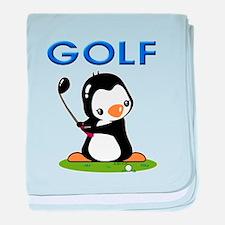 Golf Penguin (1) baby blanket