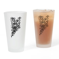 Letter N Drinking Glass