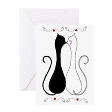 Valentine Cats Greeting Card