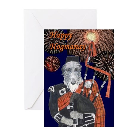 Happy Hogmanay Greeting Cards (Pk of 10)