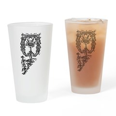 Letter O Drinking Glass