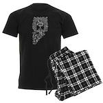 Letter O Men's Dark Pajamas