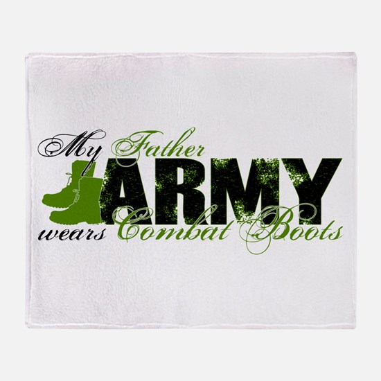 Father Combat Boots - ARMY Throw Blanket