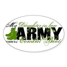 Daughter Law Combat Boots - ARMY Decal