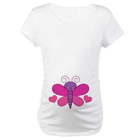 Valentine Butterfly Cute Maternity T-Shirt