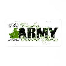 Daughter Combat Boots - ARMY Aluminum License Plat