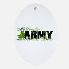 Daughter Combat Boots - ARMY Ornament (Oval)