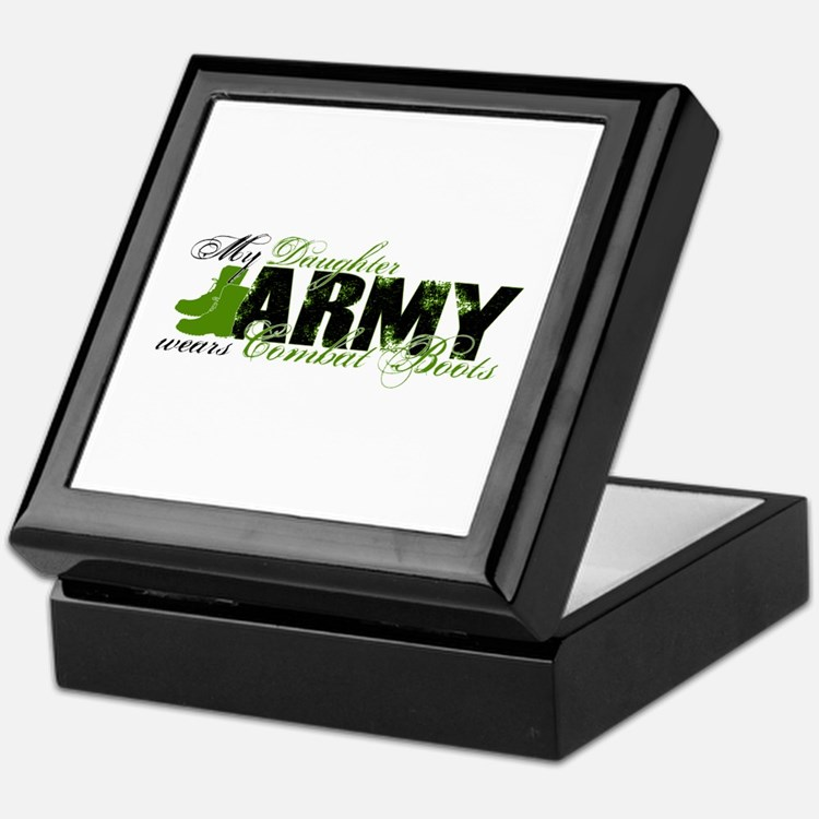 Daughter Combat Boots - ARMY Keepsake Box