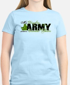 Daughter Combat Boots - ARMY T-Shirt