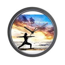You Are a Warrior! Wall Clock