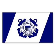 USCG Auxiliary Flag<BR> Horizontal Decal