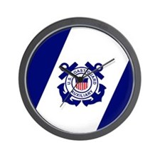 USCG Auxiliary Flag<BR> Wall Clock