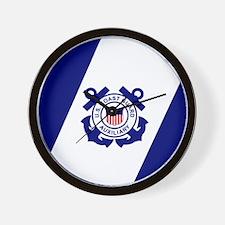 USCG Auxiliary Flag<BR> Wall Clock