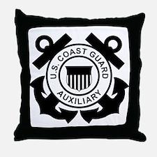 Coast Guard Auxiliary<BR> Throw Pillow