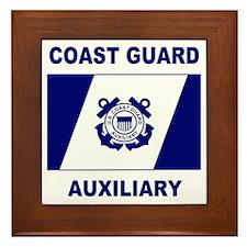 USCG Auxiliary Flag<BR> Framed Tile