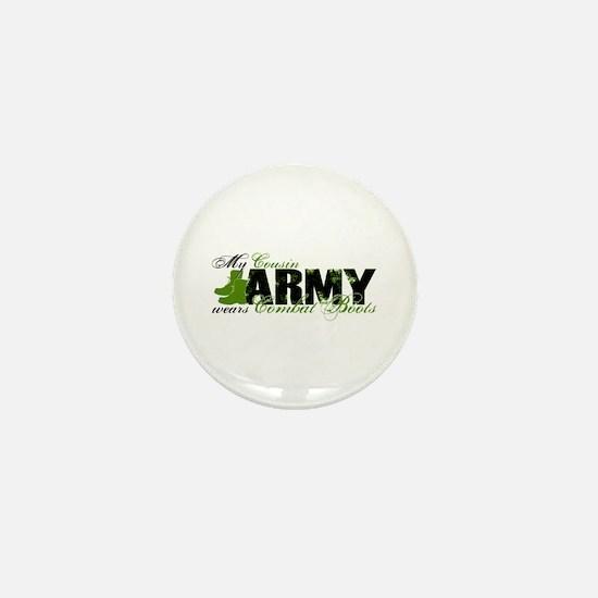 Cousin Combat Boots - ARMY Mini Button