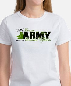Cousin Combat Boots - ARMY Tee