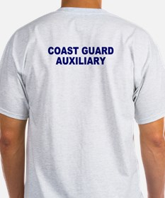 USCG Auxiliary Flag<BR> Grey T-Shirt 3