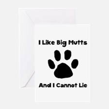 Big Mutts Greeting Card