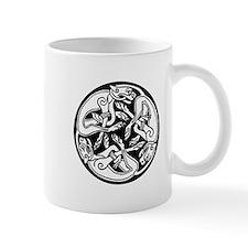 Round Celtic Dogs Mug