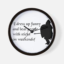 Weekend Warrior Wall Clock