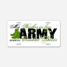 Bro Law Combat Boots - ARMY Aluminum License Plate