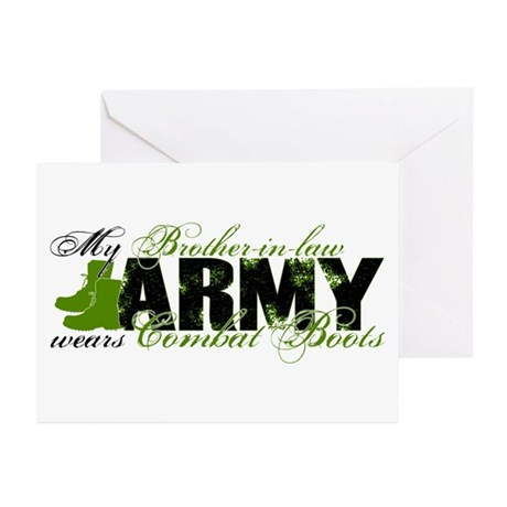 Bro Law Combat Boots - ARMY Greeting Cards (Pk of
