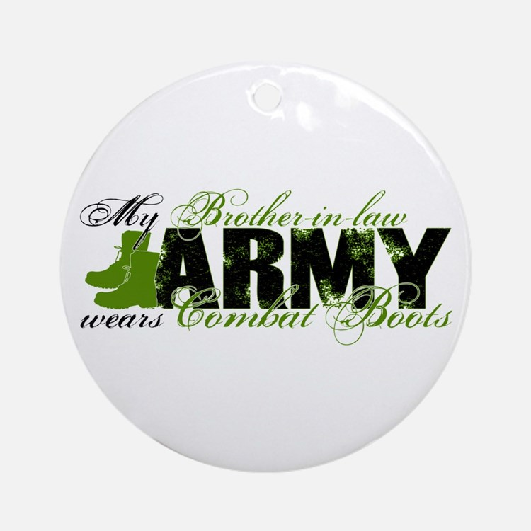 Bro Law Combat Boots - ARMY Ornament (Round)