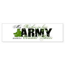 Bro Law Combat Boots - ARMY Bumper Sticker