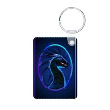 Horned Black Dragon Keychains