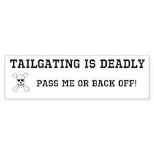 Tailgating Bumper Bumper Sticker