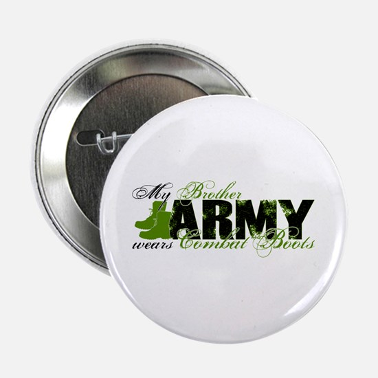 """Bro Combat Boots - ARMY 2.25"""" Button"""