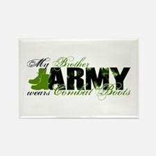 Bro Combat Boots - ARMY Rectangle Magnet