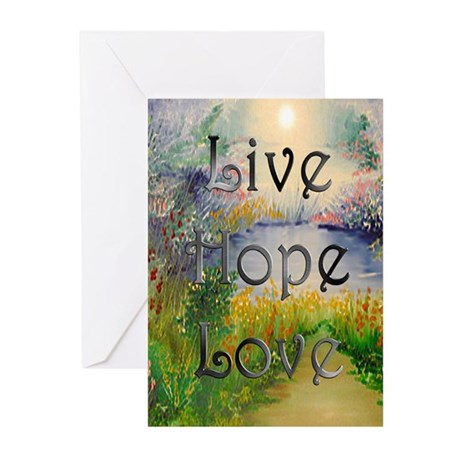 Live Hope Love Greeting Cards (Pk of 10)