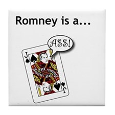 Tile Coaster - Romney is a Jack Ass