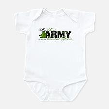 Aunt Combat Boots - ARMY Infant Bodysuit