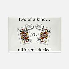 Rectangle Magnet - Jack Ass vs. Jack Ass