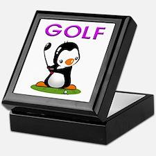 Golf Penguin (3) Keepsake Box