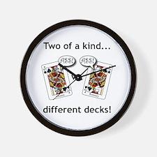 Unique Jack of spades Wall Clock