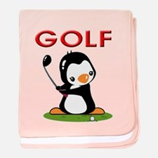 Golf Penguin (2) baby blanket