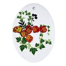 Poppy Ornament (Oval)